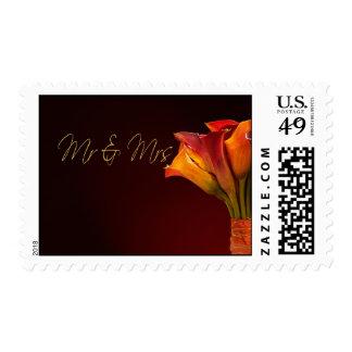 Newlywed calla lily postage