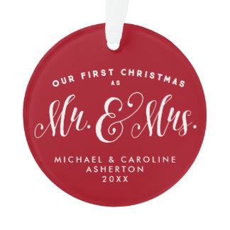 Newlywed Christmas ornament
