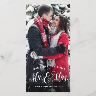Newlywed Christmas photo card