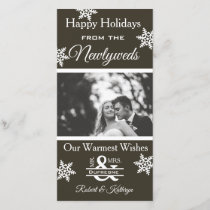 Newlywed Christmas Photo Holiday Card