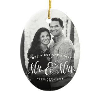 Newlywed Christmas tree ornament