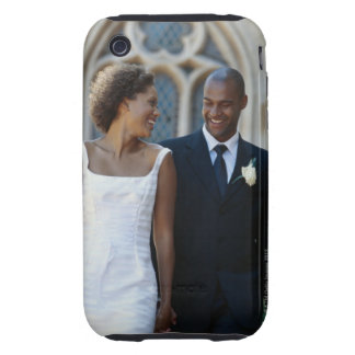 Newlywed couple, smiling tough iPhone 3 case
