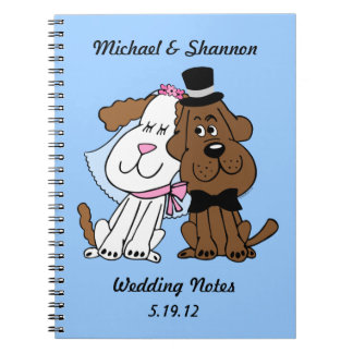 Newlywed Dogs Personalized Notebook