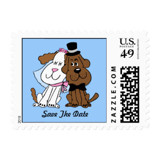 Newlywed Dogs Postage