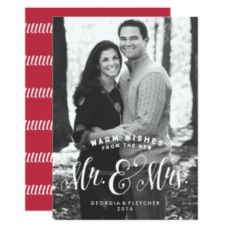 Newlywed holiday photo card