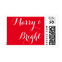 newlywed holiday postage