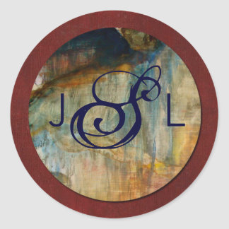 Newlywed Monogram Label oil and mahogany