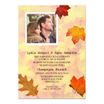 Newlywed Photo Reception Only Party Fall Theme Card