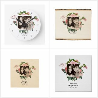 Newlywed Pink Blush Photo Wedding Gifts