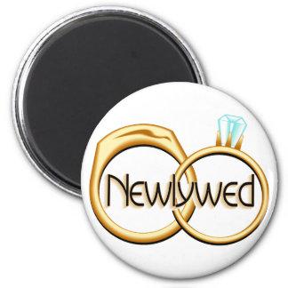Newlywed Rings Magnet