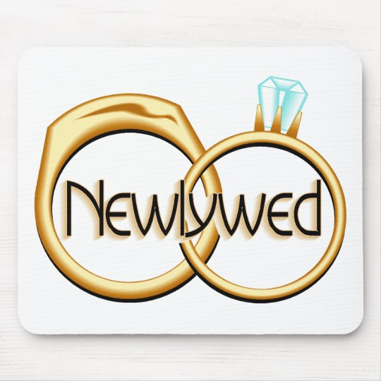 Newlywed Rings Mouse Pad