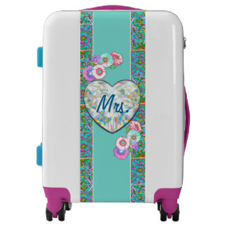 Newlywed Travel Wedding Mr. and Mrs. Bride! Luggage