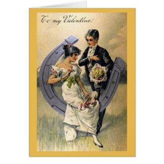 Newlywed Valentine Vintage Card