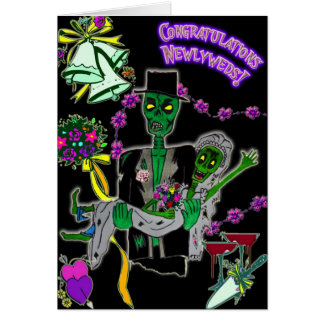 newlywed zombies card