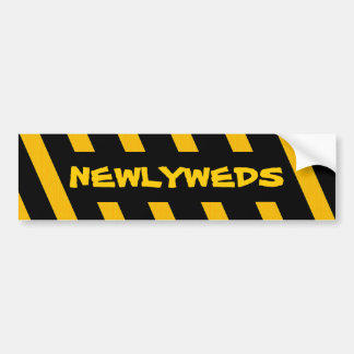 Newlyweds bumper sticker car bumper sticker