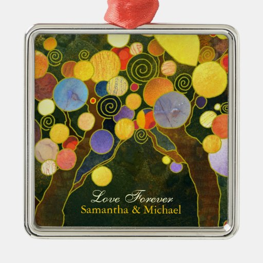 Newlyweds Couple Wedding Gift Ornament: Love Trees