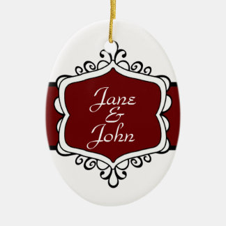 Newlywed's First Christmas Oval Ornament