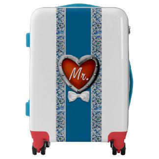 Newlyweds Honeymoon Travel Mr. and Mrs.! Groom! Luggage
