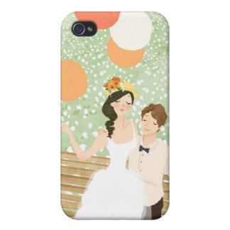 Newlyweds on a Garden Branch Case For iPhone 4