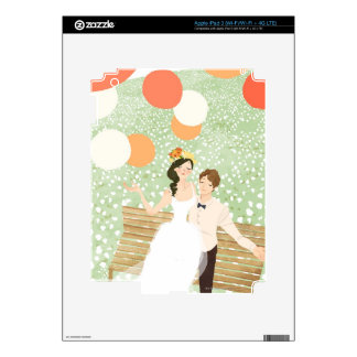 Newlyweds on a Garden Branch iPad 3 Decal