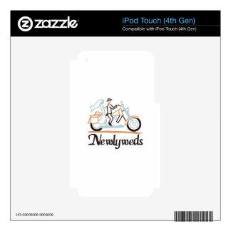 Newlyweds on Motorbike iPod Touch 4G Skin