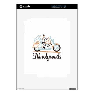 Newlyweds on Motorbike iPad 2 Decal