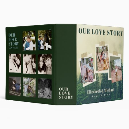 Newlyweds OUR LOVE STORY Photo Collage 3 Ring Binder