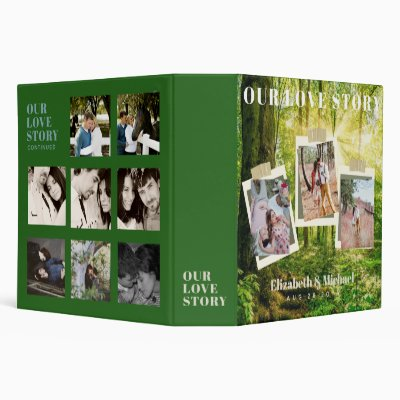 Newlyweds Our Love Story PHOTO Collage Custom 3 Ring Binder