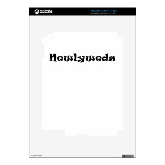 Newlyweds iPad 2 Decals