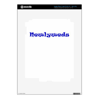 Newlyweds Decals For iPad 3