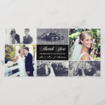 """Newlyweds Thank You Photo Card<br><div class=""""desc"""">Say Thank You with a short message and 6 photos. 2 square format and 4 rectangles approximately 2.67&quot; x 2.67&quot; and 2.67&quot; x 1.34&quot;.  Photo Credit: Ruby Lane Photography   Flickr Creative Commons Attribution-NoDerivs 2.0 Generic (CC BY-ND 2.0)   https://creativecommons.org/licenses/by-nd/2.0/</div>"""