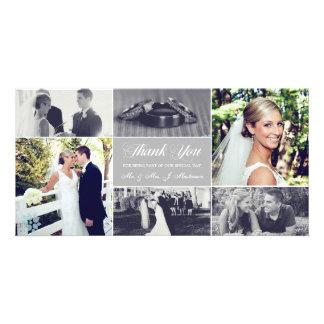 Newlyweds Thank You Photo Card Light Gray