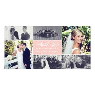 Newlyweds Thank You Photo Card Pale Pink