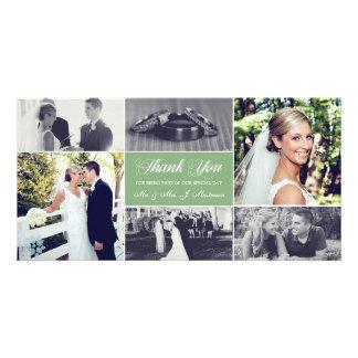 Newlyweds Thank You Photo Card Sage Green
