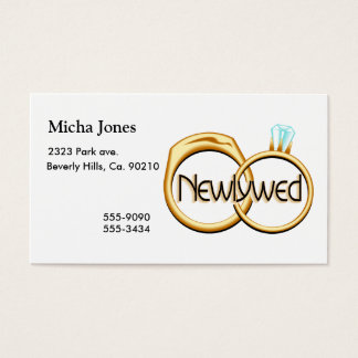 Newlyweds Wedding Rings Business Card