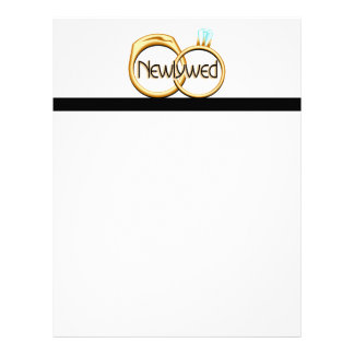 Newlyweds Wedding Rings Letterhead
