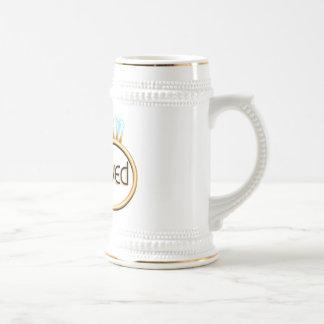 Newlyweds Wedding Rings Coffee Mug