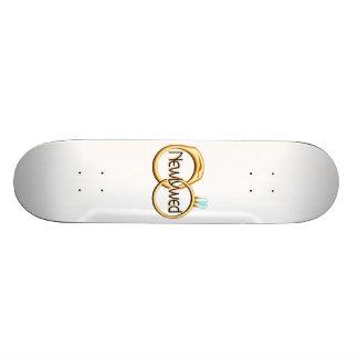 Newlyweds Wedding Rings Skateboard