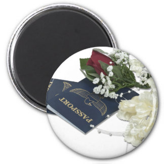 NewlywedsTraveling101610 2 Inch Round Magnet