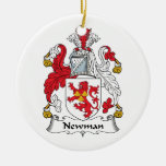 Newman Family Crest Christmas Ornaments