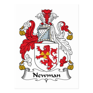 Newman Family Crest Postcard