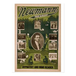 """NewMann, """"el grande"""", Hypnotist y mente Reader Postales"""