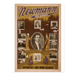 "NewMann, ""el grande"", Hypnotist y mente Reader Tarjeta Postal"