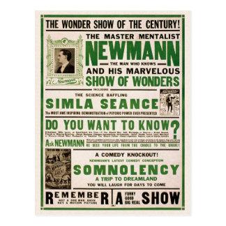 Newmann: El Mentalist principal, 1930 Postales