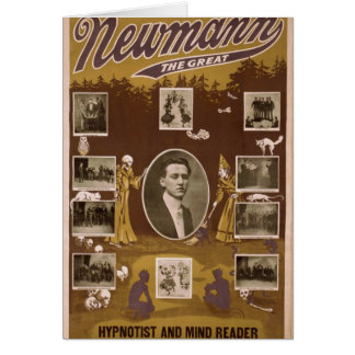 NewMann, 'The Great', Hypnotist and Mind Reader' Greeting Card
