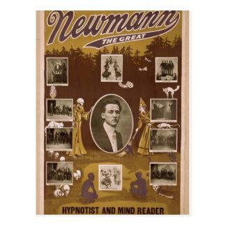 NewMann, 'The Great', Hypnotist and Mind Reader' Postcard