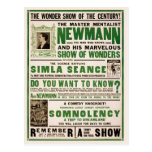 Newmann: The Master Mentalist, 1930 Postcard