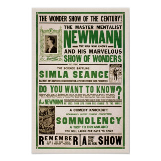 Newmann: The Master Mentalist, 1930 Poster