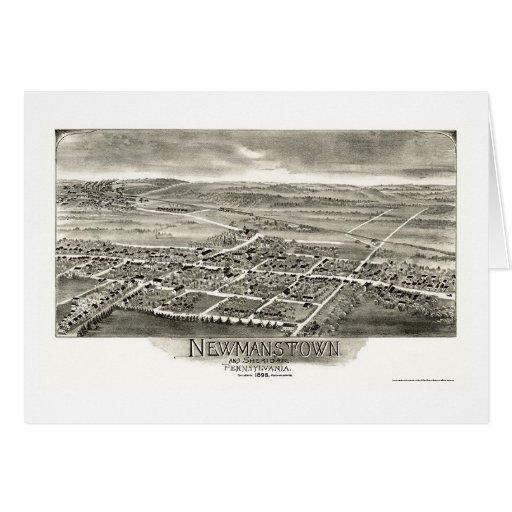 Newmanstown y Sheridan, mapa panorámico del PA - Tarjeta De Felicitación