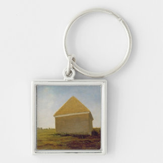 Newmarket Heath, with a Rubbing-Down House, c.1765 Keychain